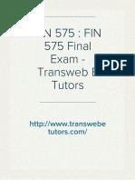 FIN 575