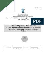 SOP Export Inspection