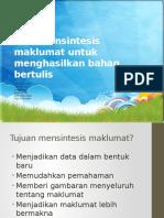 Mensistesis maklumat untuk menghasilkan sumber maklumat.pptx