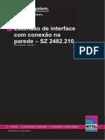 Extensão de interface com conexão na parede Rittal – SZ 2482.210