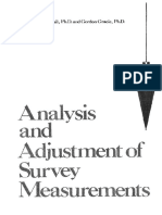 Analysis and Adjustment of Survey Measurements