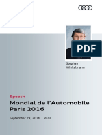 Speech Audi Sport Press Conference Paris Motor Show