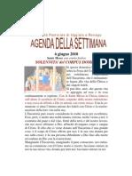 Agenda Corpus Domini