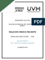 Ensayo Relacion Medico-paciente