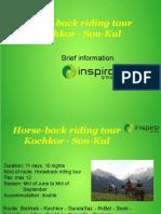 Horse-back Riding Tour Kochkor - Son-Kul