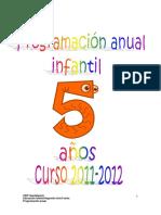 Programacion Anual Infantil 5 Anios