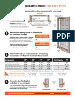 Andersen EMCO Storm Door Measure Guide