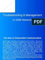 Presentation on Troubleshooting and Management in GSM Networks