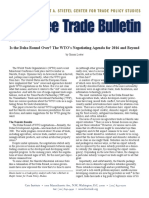 Is the Doha Round Over? The WTO's Negotiating Agenda for 2016 and Beyond