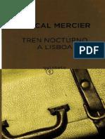 Tren Nocturno a Lisboa - Pascal Mercier