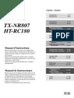 Manual TX NR807 Francais Espagnol