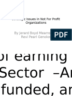 Strategic Issues in Not-For-Profit Organizations