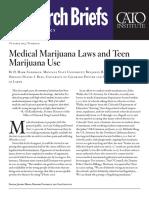 Medical Marijuana Laws and Teen Marijuana Use