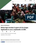 Bolivia logró terminar la guerra de las drogas legalizando la coca y expulsando a la DEA   VICE News