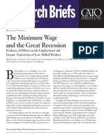 The Minimum Wage and the Great Recession