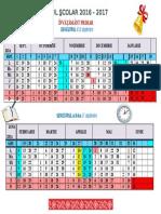 Calendar Scolar Inv.primar 2016 2017