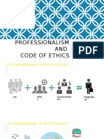 Professionalism and Code of Ethics v2