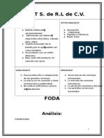 ejemplo Analisis FODA
