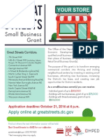 Great Streets Application Flyer