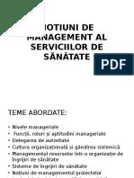 Notiuni de Management AML IV