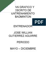 Plan Escrito Badminton - 2016
