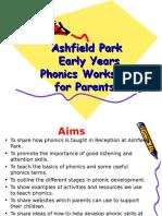 ashfield park school parents phonic meeting 2016