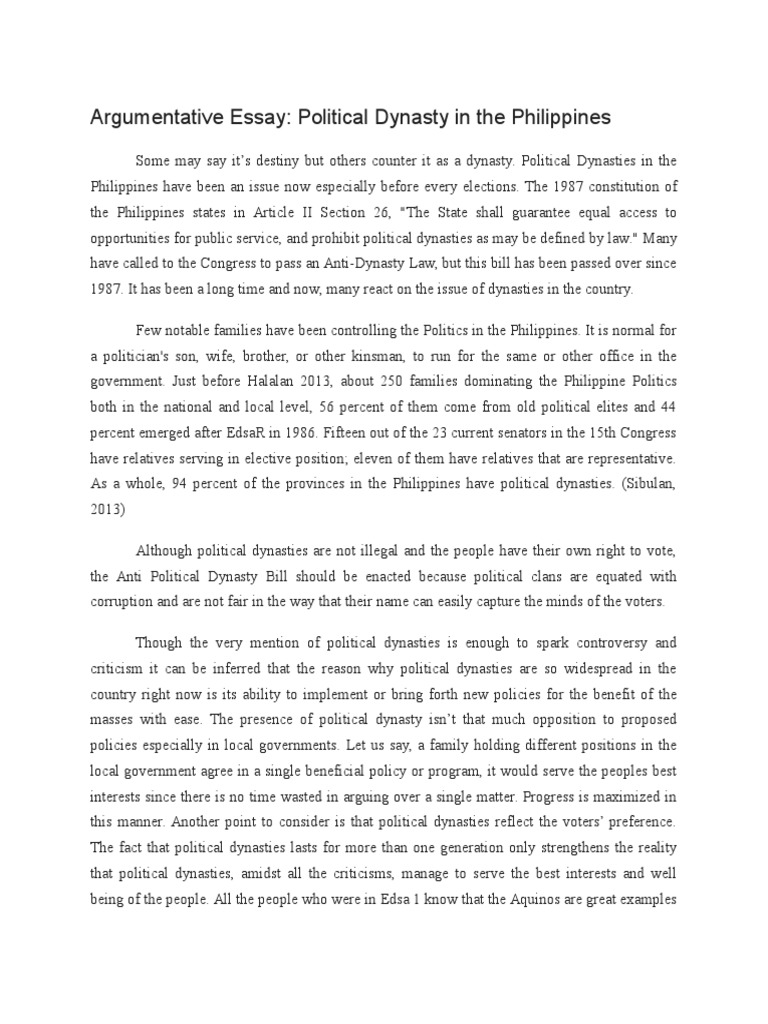 Argumentative Essay | Article Two Of The United States Constitution ...