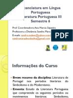Aula Presencial 01 - Portuguesa III