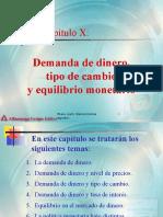 Capitulo 10 Demanda de Dinero TC Equilibrio Monetario