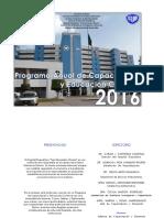 Programa Anual Hpfba 2016