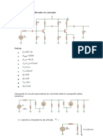 Diseño de Un Amplificador en Cascada (Bjt) - Corregido