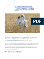GMO Agriculture Proven to Cause Catastrophic Environmental Damage