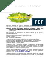 Educacion Ambiental Escolarizada en Republica Dominicana