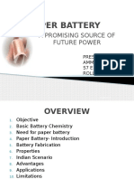 Paper battery