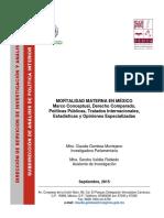 Mortalidad Materna en México 20015
