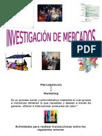 Investigacion Mercados I