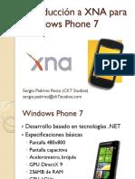 Introducción a XNA Para Windows Phone7