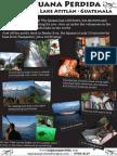La Iguana Perdida promotional poster (Santa Cruz La Laguna)