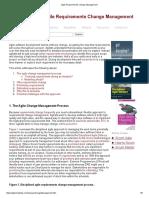 Agile Requirements Change Management
