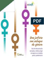 Guía de interpretación normativa y defensa legal de mujeres en el ámbito penal y penitenciario