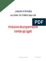 Introduzione Alla Programmazione Orientata Agli Oggetti