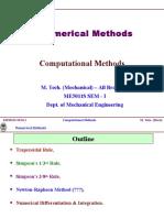 M.tech Computationl Methods Numeical Methods
