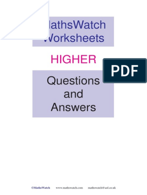 Maths Watch Answers Pdf Trigonometric Functions Quadratic Equation