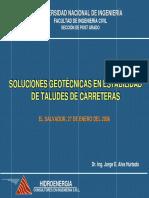 Soluciones Geotecnicas Taludes 2006