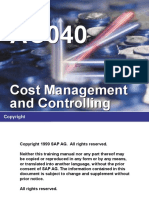 AC040 Cost Management and Controlling Part I