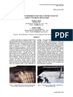 Thermal Engineering for the Construction of Large Concrete Arch Dams
