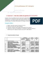 Les Exercices Corrigé de l'Analyse de La Performance de l'Entreprise 3