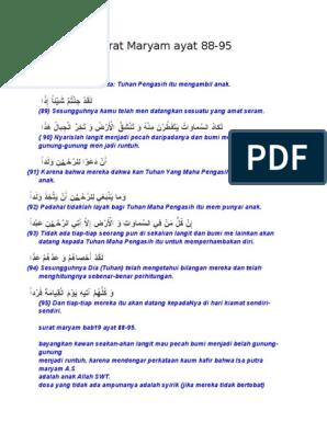 Surat Maryam Ayat 88