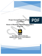 MBA Project Guidelines- 2016