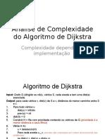 Dijkstra-Complexidade